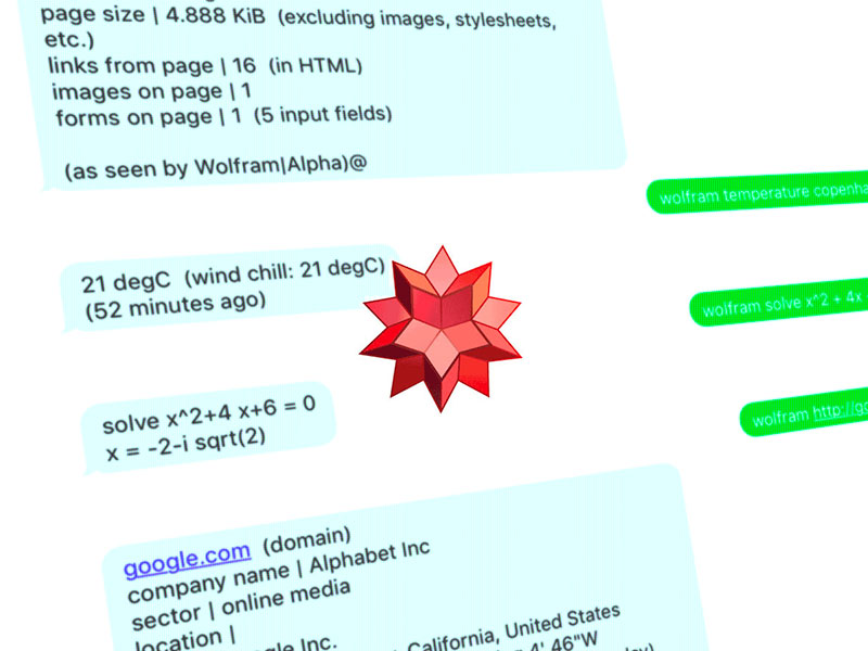 Two-Way Messaging with Wolfram|Alpha