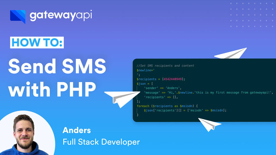 How to send SMS messages with PHP.